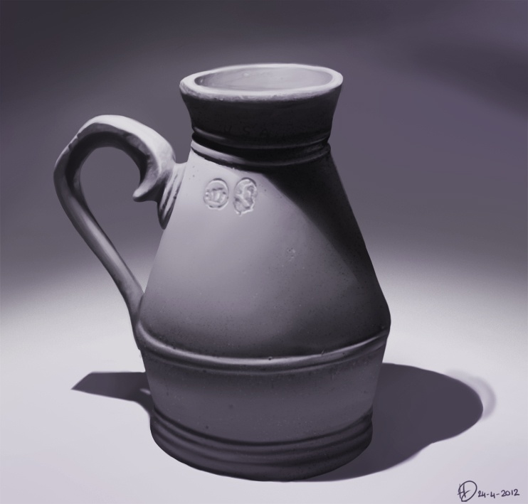 Digitaal geschilderde vaas