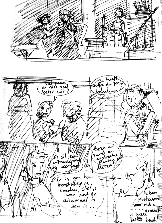 North and South comic page