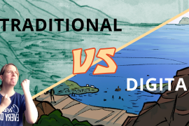 Making webcomics: Traditional vs digital